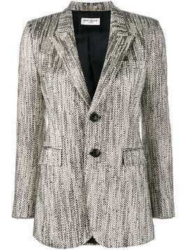 Saint Laurent buttoned tweed blazer - Black