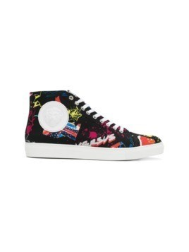 Versus printed hi-top sneakers - Black