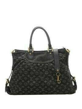 Louis Vuitton 2007 pre-owned monogram denim Neo Cabby MM two-way bag - Black
