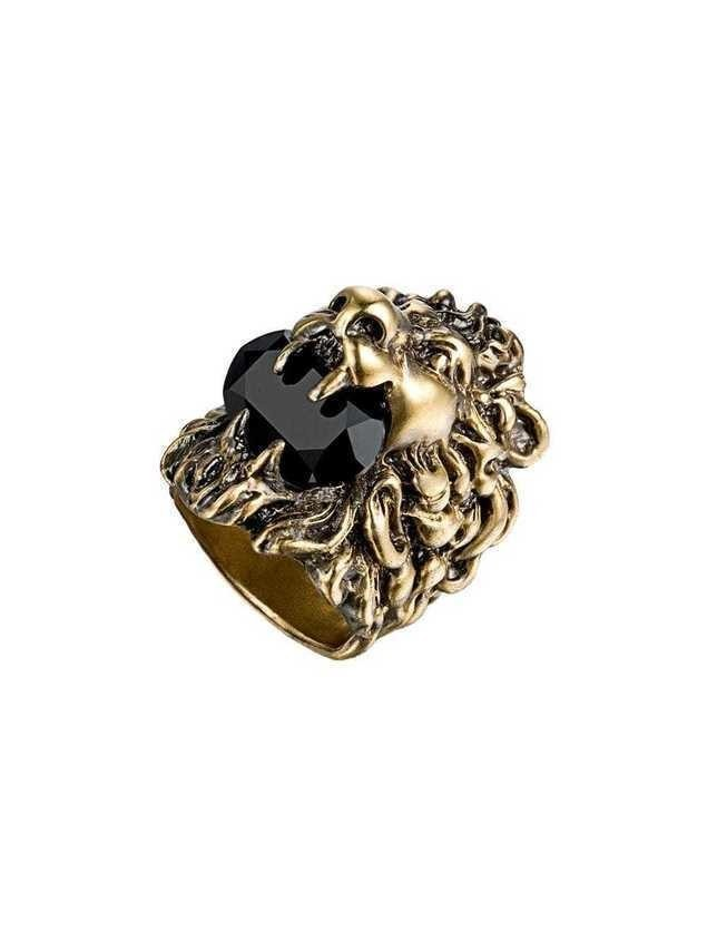 Gucci Lion head ring with Swarovski - GOLD