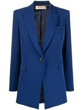 Blanca Vita single-breasted angled suit jacket - Blue