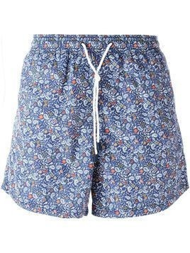 Etro paisley print swim shorts - Blue
