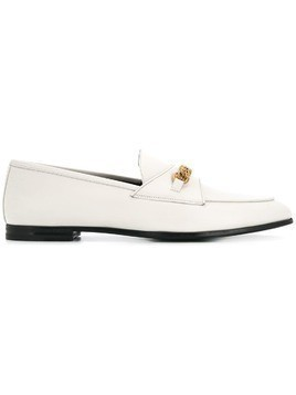 Tom Ford chain trim loafers - White