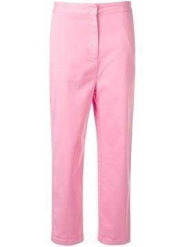 Kuho cropped straight-leg trousers - PINK