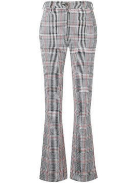 Marios check print trousers - Black