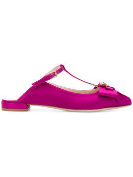 Stuart Weitzman pointed T-bar sandals - Pink & Purple