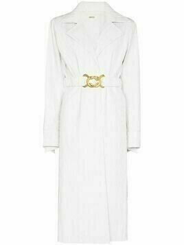 Dodo Bar Or Mia textured belted coat - White