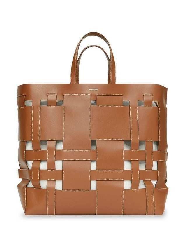 Burberry Large Vintage Check Austen Tote - Brown