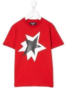 Neil Barrett Kids exploding star print T-shirt - Red
