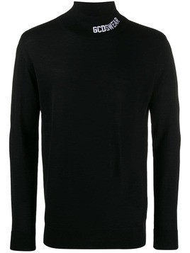 Gcds roll neck jumper - Black