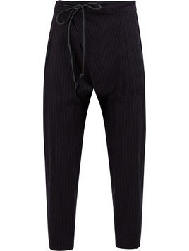 Attachment pinstriped harem trousers - Blue