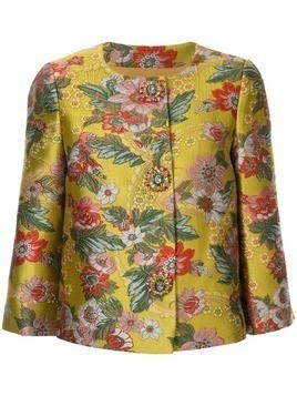 Andrew Gn brocade cropped jacket - Yellow