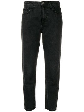 Current/Elliott cropped tapered jeans - Grey