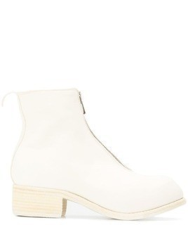 Guidi zip-up ankle boots - White
