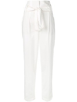 Dorothee Schumacher belted high-waisted trousers - White