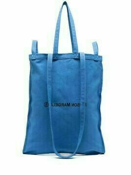 MM6 Maison Margiela number 6 logo print tote - Blue