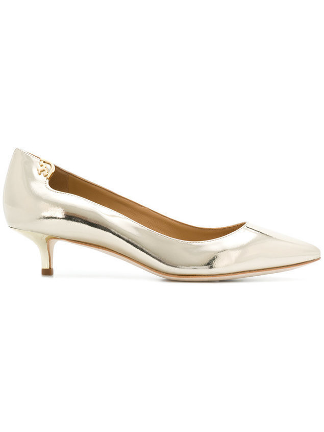 Tory Burch pointed toe pumps - Metallic