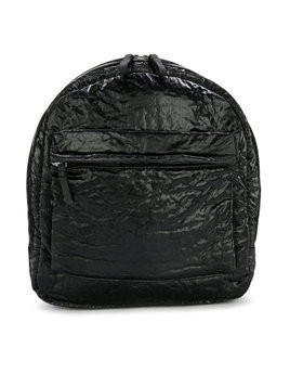 Andorine crushed velvet backpack - Black