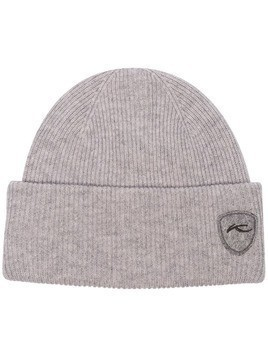 KJUS ribbed knit logo patch beanie - Grey