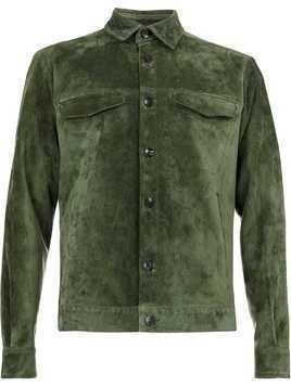 Ajmone leather shirt jacket - Green