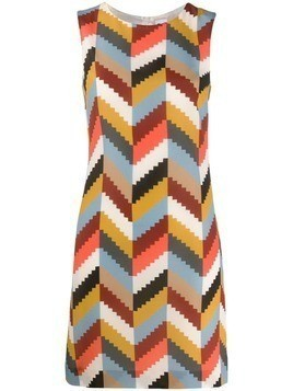 M Missoni geometric silk dress - Neutrals