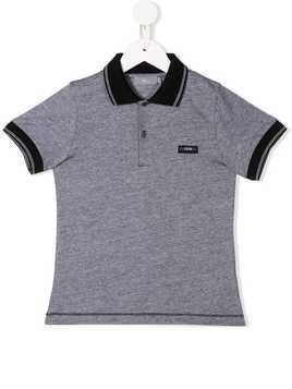 Baby Dior logo patch polo shirt - Grey