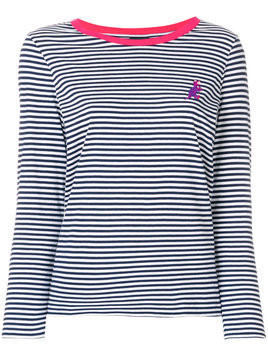 Ps By Paul Smith - striped dinosaur logo jersey top - Damen - Cotton - S - Blue