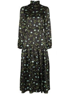 Borgo De Nor Eugenia floral-print jacquard midi dress - Black