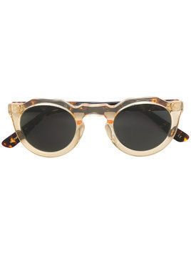 Lesca round tinted sunglasses - Brown