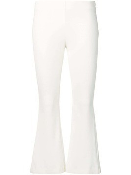 Dusan cropped flared trousers - White