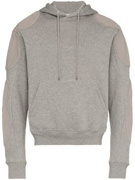 Gmbh grey patch detail cotton hoodie