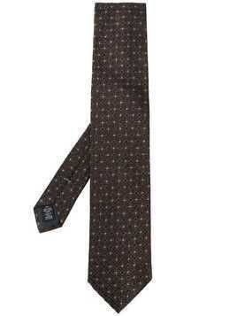 Ermenegildo Zegna geometric embroidered tie - Brown
