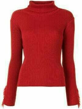 Y's roll neck jumper - Red