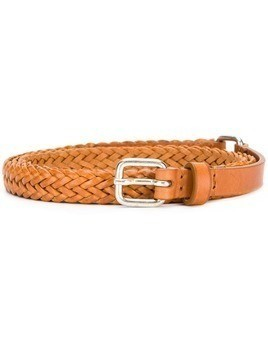 Jean Paul Knott thin intrecciato buckle belt - Brown