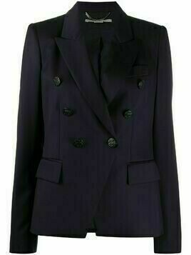 Stella McCartney double-breasted wool blazer - Blue