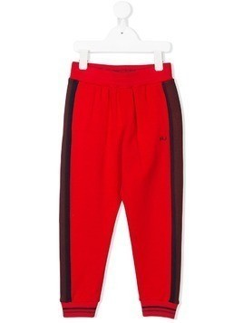 Little Marc Jacobs side stripe track pants - Red