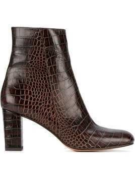 Maryam Nassir Zadeh alligator-embossed Agnes boots - Brown
