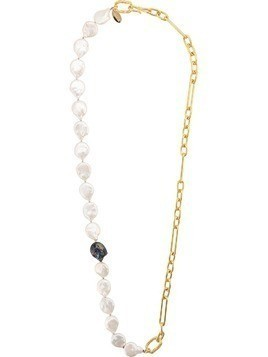 Lizzie Fortunato Jewels contrast chain necklace - GOLD