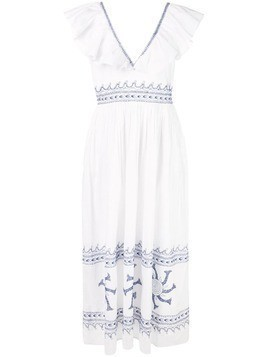 Le Sirenuse Friday embroidered maxi dress - White