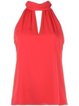 Milly key-hole neck blouse - Red
