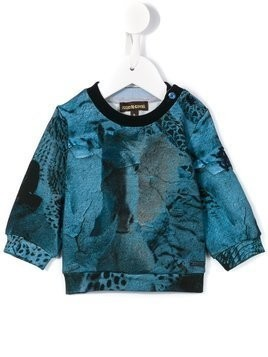 Roberto Cavalli Kids abstract print sweatshirt - Blue