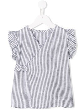 Il Gufo striped wrap front top - Grey
