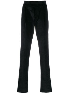 Caruso corduroy pleat trousers - Black