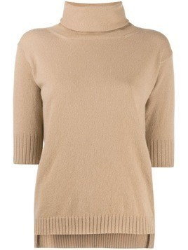 Malo cashmere roll neck top - Neutrals