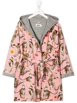 Molo Kids leopard print dressing gown - Pink