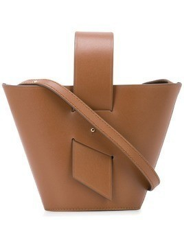 Carolina Santo Domingo Amphora mini leather tote - Brown