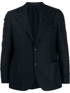 Bagnoli Sartoria Napoli patch pocket blazer - Blue