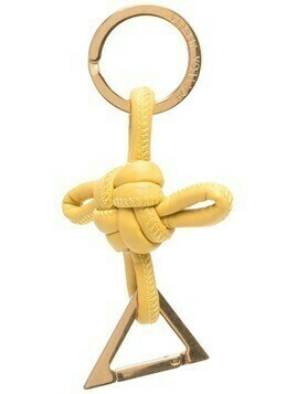Bottega Veneta knotted triangle keyring - Yellow