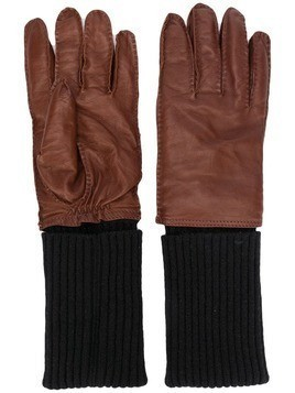 Ami Paris leather gloves - Brown