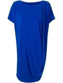 Issey Miyake shortsleeved draped dress - Blue